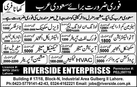 Salesmen Cum Drivers, Diesel Mechanics Job Opportunity