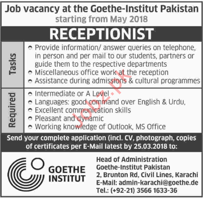 goethe institute paksitan