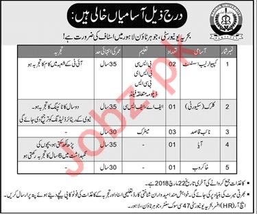 Bahria University Lahore Administration Jobs