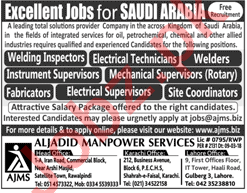 Inspectors, Technicians, Supervisors, Coordinators Jobs 2018