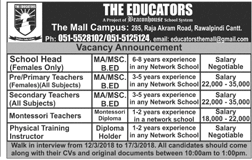The Educators The Mal Campus Teacher Jobs