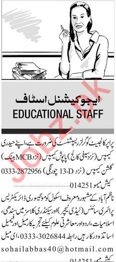 Teachers & Principal Jobs in Karachi