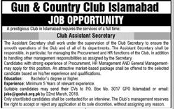 Gun & Country Club Jobs in Islamabad
