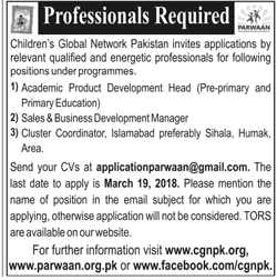 Children Global Network Pakistan Jobs