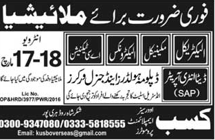 Data Entry Operators, AC Technicians Job opportunity