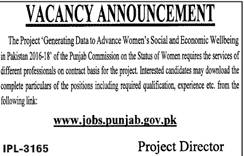 Punjab Commission On The State Of Women  Jobs