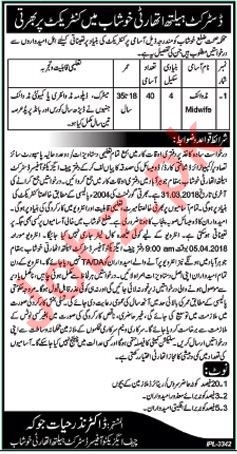 District Health Authority Khushab Jobs 2018 for Midwives