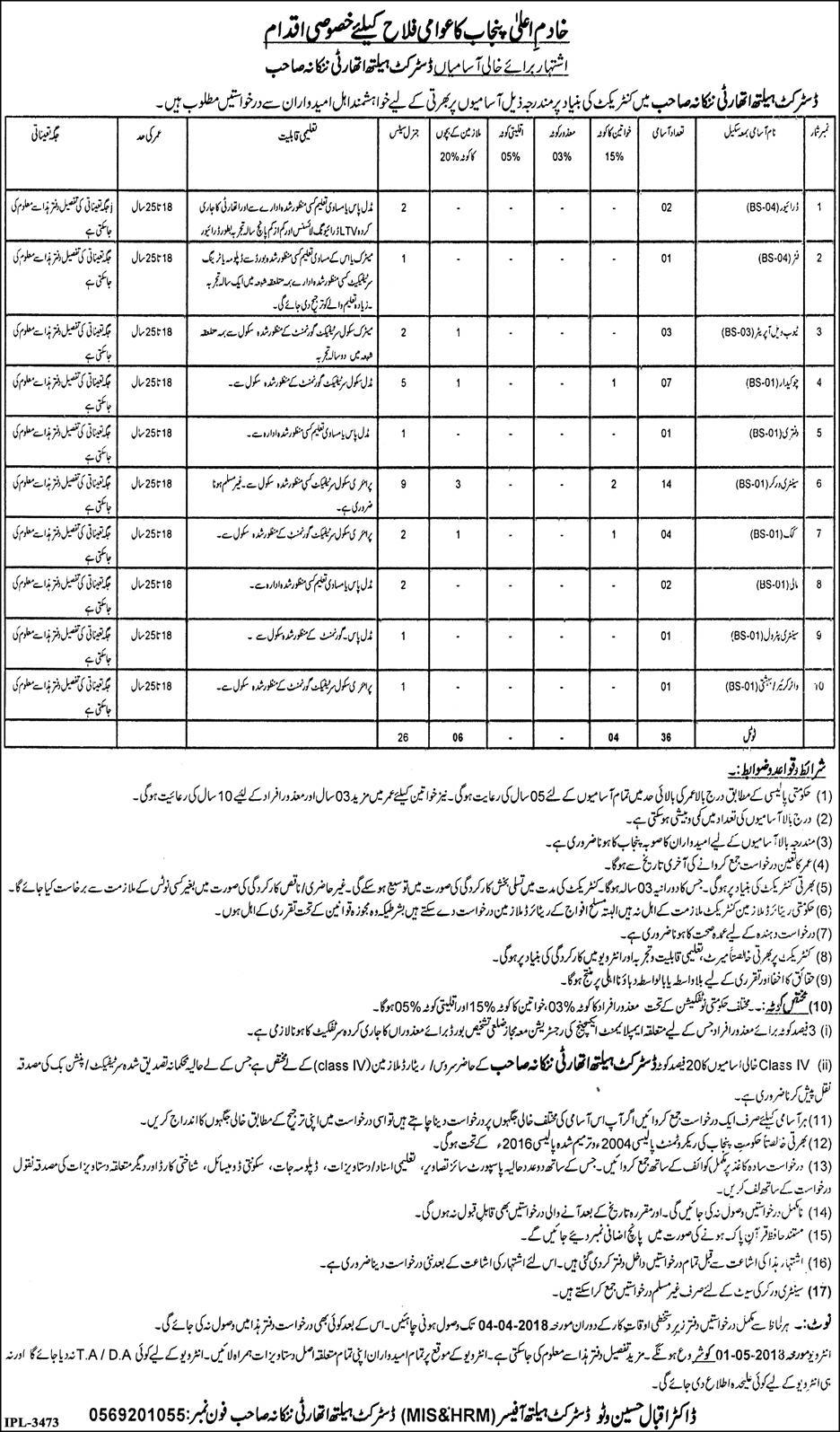 District Health Authority Drivers Jobs