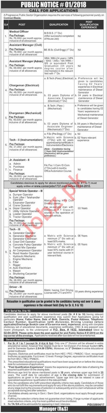 NESCOM Jobs 2018 2019 Job Advertisement Pakistan