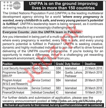 The United Nations Population Fund UNFPA Careers