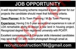 Town Planner Jobs 2018 in Karachi