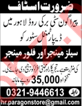 Sales Manager & Floor Manager Jobs 2018 in Lahore