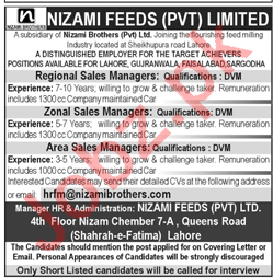 Regional Sales Managers, Area/Zonal Sales Managers Jobs 2018