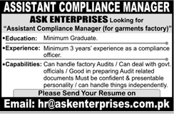 Assistant Compliance Manager Job Opportunity