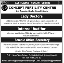 Australian Health Centre Lady Doctor Jobs