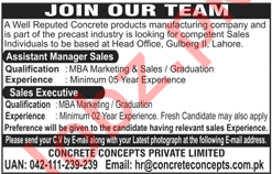 Assistant Manager Sales & Sales Executive Jobs 2018