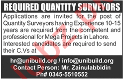 Unibild Engineering & Construction Lahore Jobs Surveyors