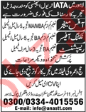 IATA Travel Agency Lahore Jobs Managers & Receptionist 2018