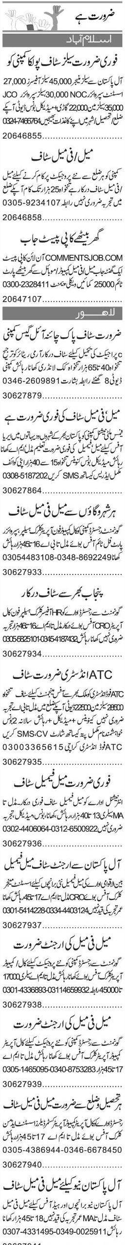 Computer Operators, Telephone Operators, Supervisors Wanted