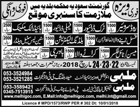 Road Surveyors, Truck Drivers, Family Drivers Wanted