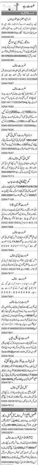 LTV Drivers, Receptionists, Chawkidars Job Opportunity