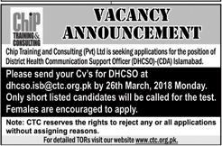 CHIP Training & Consulting Pvt Ltd Jobs