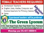 Female Teachers Job in The Green Lyceum