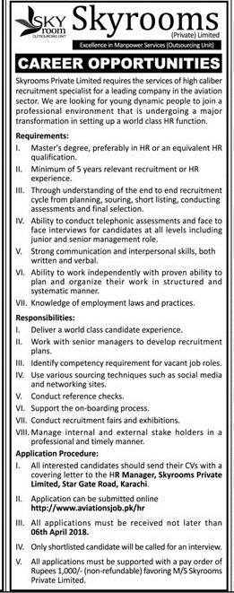 Skyrooms Private Limited Management Jobs