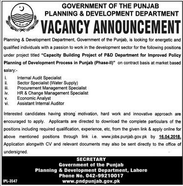 Planning and Development Department Job Open
