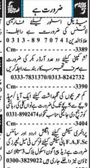 Aya, House Maid, English Teachers, Urdu Teachers Wanted