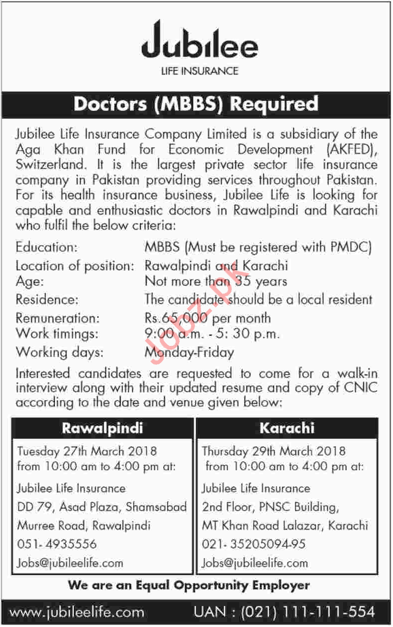 Jubilee Life Insurance JLI Career Opportunities