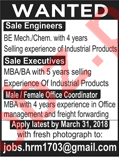 Sales Engineers and Executives Required