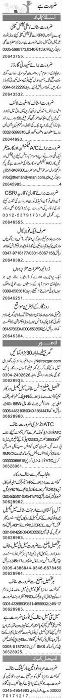AC Technicians, Security Guards Job Opportunity