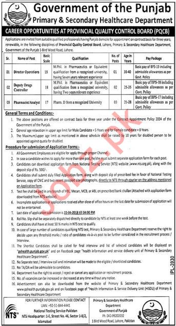 Health Department Jobs Director & Pharmacist Via NTS