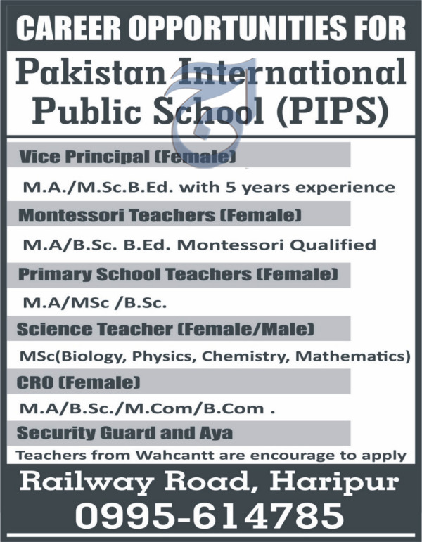 Pakistan International Public School PIPS Jobs