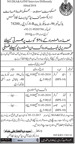 Information Department Government of Sindh Jobs
