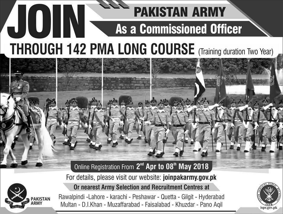 Join Pakistan Army as Commissioned Officers