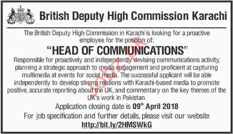 British Deputy High Commission BDHC Job Opportunities