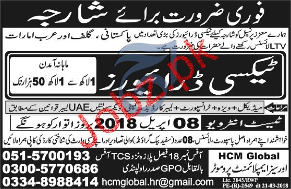 LTV Taxi  Drivers job in Sharjha