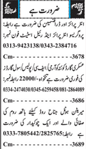 Draftsmen, Civil Guards, Cleaners and Chawkidars Wanted