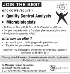 Quality Control Analysts and Microbiologists Job Opportunity