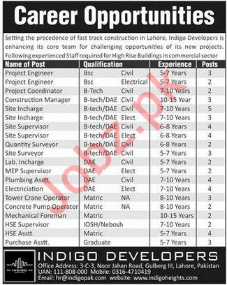 Indigo Developers Lahore Jobs 2018 for Engineers