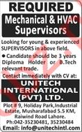 Unitech International PVT Ltd Jobs
