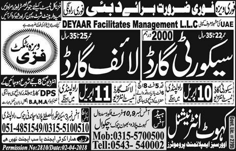 Security Guards  and Life Guards Job Opportunity