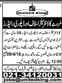 Counter Sales Staff and Delivery Riders Job in United King
