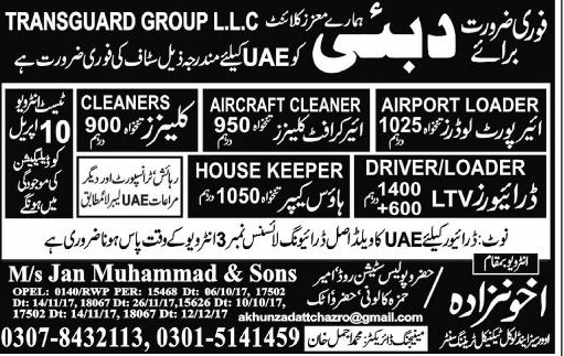 Airport Loaders, Aircraft Cleaners, LTV Drivers Wanted
