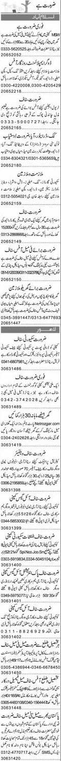 Cook, LTV Drivers, House Maid Job Opportunity