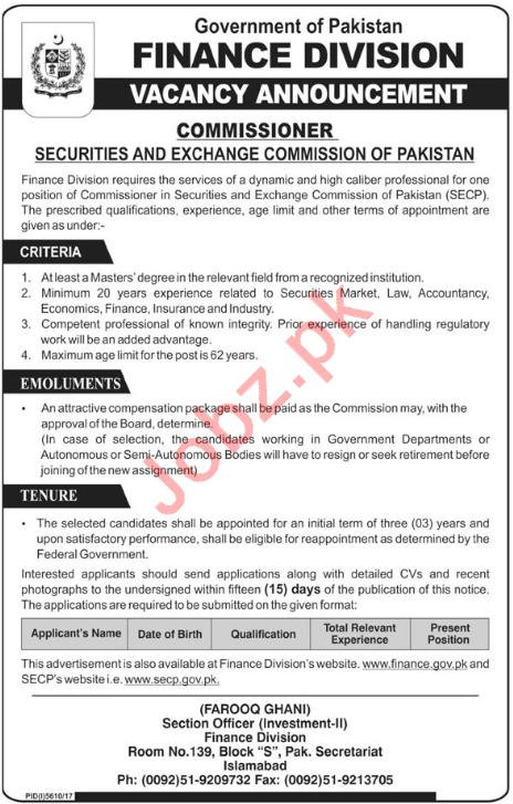 Securities & Exchange Commission of Pakistan SECP Jobs 2018
