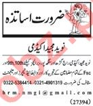 Teachers Jobs 2018 For Academy in Lahore