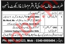 Finance Manager & Customer Relation Officer Jobs 2018